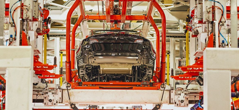 Tesla Freemont production line